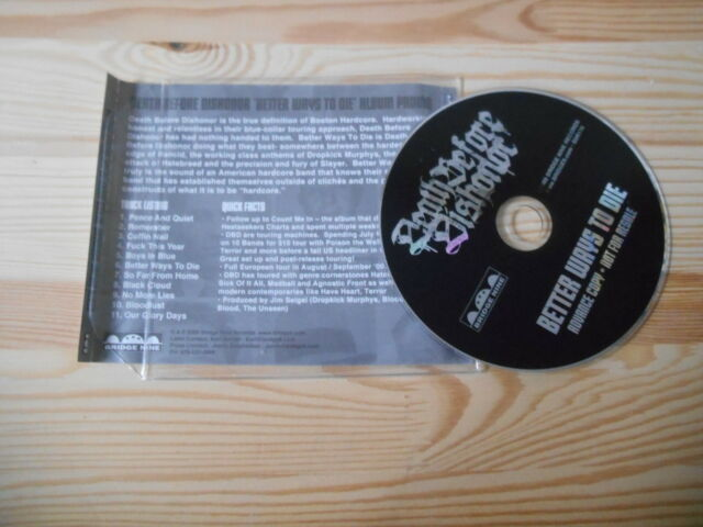 CD PUNK DEATH BEFORE DISHONOR-better ways to la (11) canzone PROMO Bridge Nine