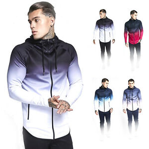 Men-039-s-Full-Zip-Up-Hoodie-Sports-Pullover-Sweatshirt-Hooded-with-Zipper-Pockets
