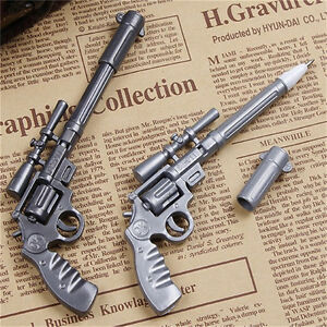 Novelty-Pens-Gun-Shape-Ballpoint-Stationery-Pen-Student-Office-Creative-Yw