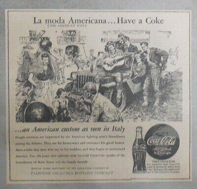 "Coca-Cola ad Fantastic Frank Godwin Artwork 1940/'s 7 x 7 inches /""Philippines/"""