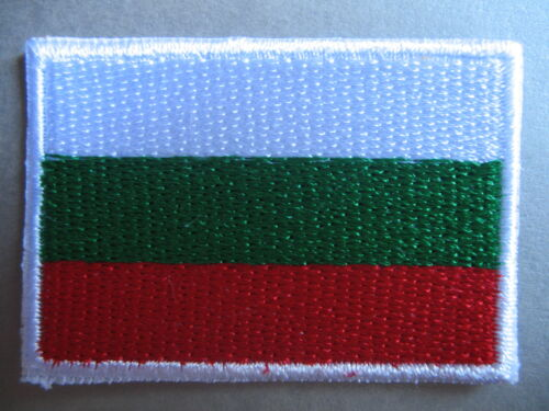 Bulgarian Flag Small Iron On// Sew Cloth Patch Badge Република България BULGARIA
