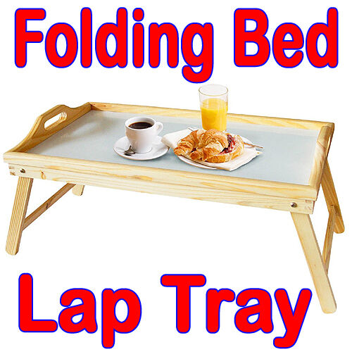 Pinewood Breakfast Portable Bed Food Serving Lap Tray Reading Table Folding Legs