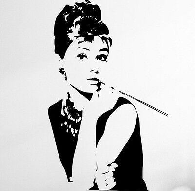 Wall Stickers Wall Tattoo Wall Sticker Wall Sticker Deco Stars Audrey Hepburn WS032
