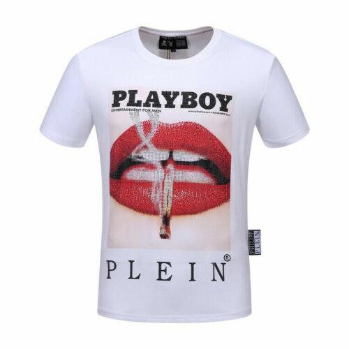 Philipp Plein Noir//Blanc Play Boy Lèvres hommes Casual T-shirt Taille M-3XL P2021