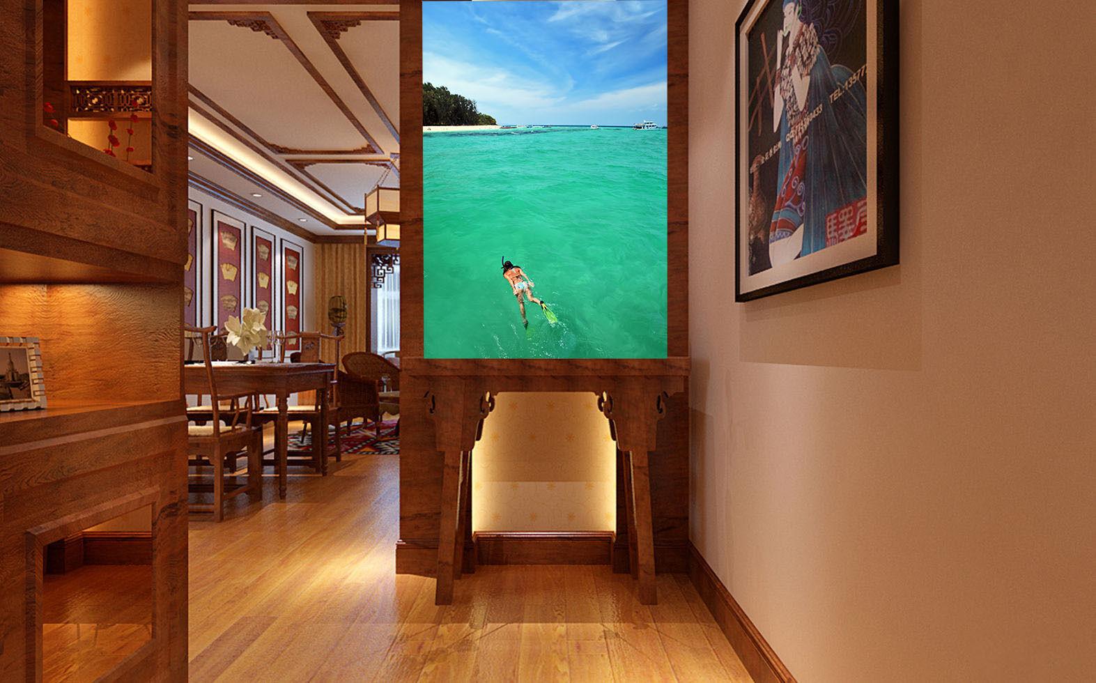 3D Immersione 5 Parete Murale Foto Carta da parati immagine sfondo muro stampa