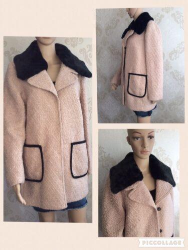 cuello de talla ediciᄄᆴn Nuevo chaqueta abrigo piel 14 de de S de desmontable camello damas M limitada para gwvg6tEq7