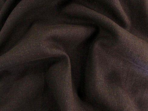 lin tissu avec viscose au mètre Doux elegant Choco EUR 7,97//m