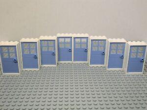 ☀️NEW LEGO of 2 Door /& Frame 1 x 4 x 6 BLACK WHITE