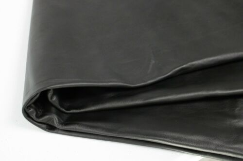 BLACK COWHIDE LEATHER 1.0 to 1.2m 20 Square Foot Avg 2.5 oz-3 oz