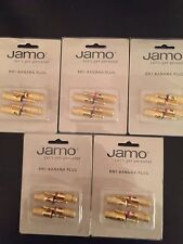 Jamo BN1 4 Pcs, Banana Plug  Red/Black 5 pair 94079  Brand New!!!!