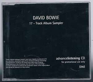 DAVID-BOWIE-17-TRACK-ALBUM-SAMPLER-UK-PROMO-CDLRL015-EMI-1999-CD