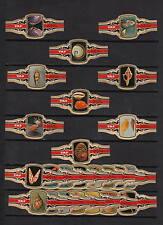 Série complète de 24  Bague de Cigare Label   Taf  Coquillage