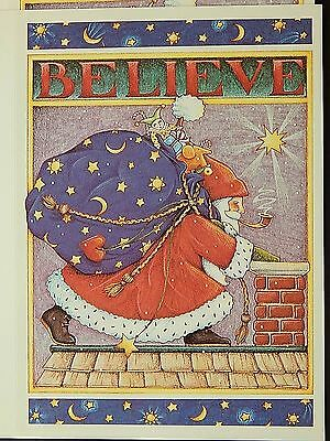 Mary Engelbreit 10 Christmas Cards Believe in Magic of Christmas Santa Vintage