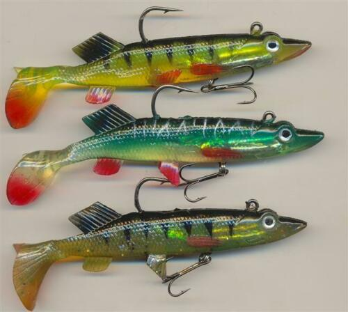Bass Pike /& Perch 3 4 /& 5½ inch soft bait lures Multi listing