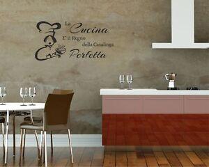 Adesivo murale la cucina e 39 il regno wall stickers - Wall stickers per cucina ...