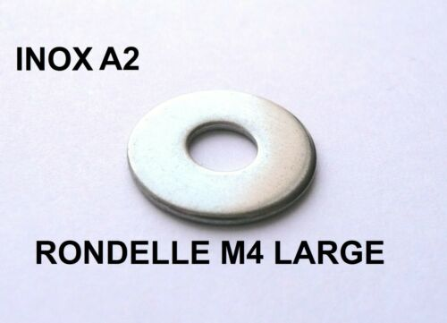 RONDELLE M4 x 14 SERIE LARGE INOX A2