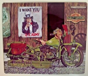 Ande-Rooney-HARLEY-DAVIDSON-FREEDOM-RIDERS-Motorcycle-US-Army-Garage-Sign