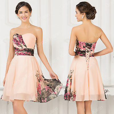 FloralShort Formal Prom Graduation Evening Party Homecoming Bridesmaid Dresses