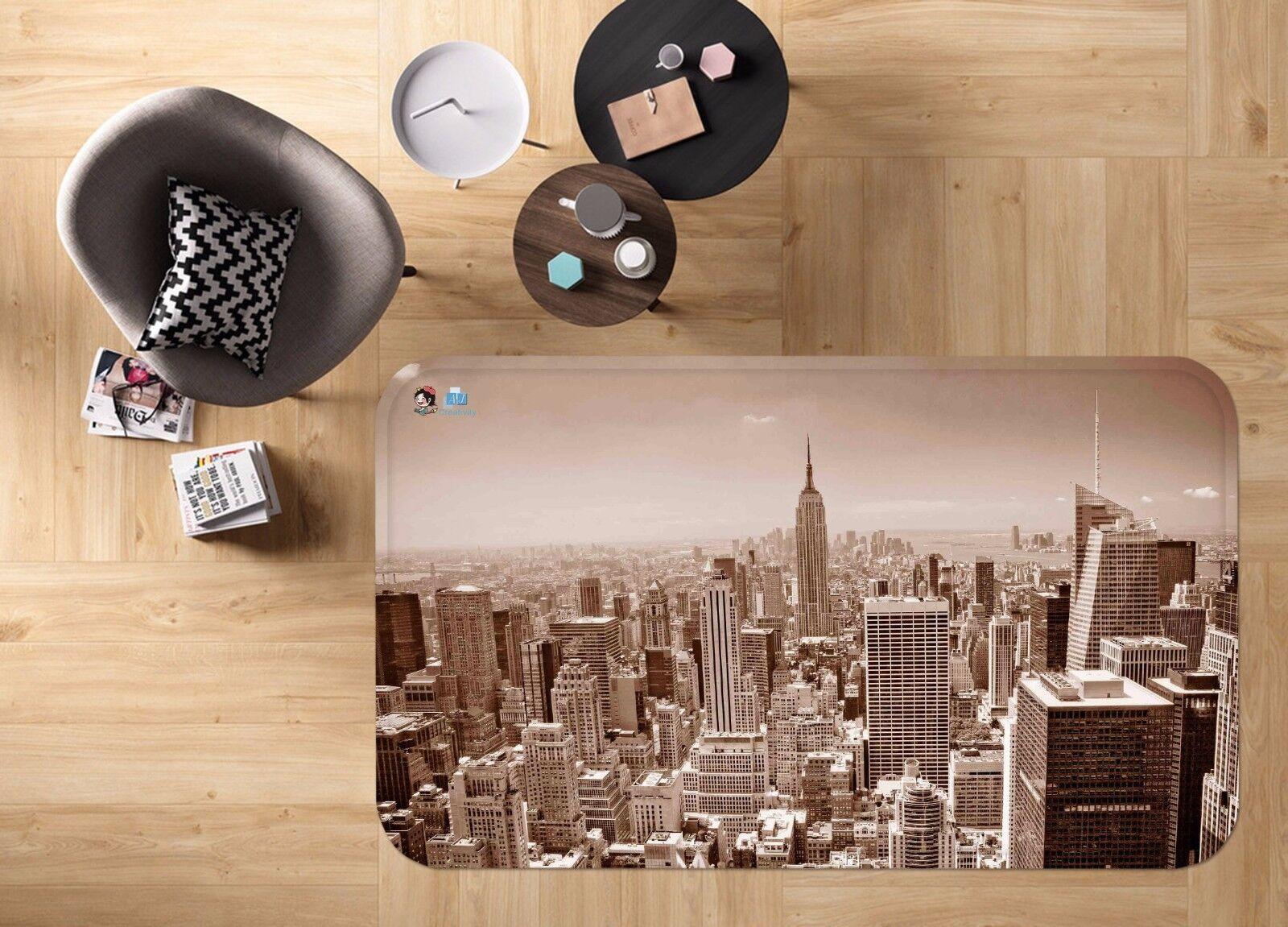 3D State Buildings 84 Non Slip Rug Mat Room Mat Round Elegant Photo Carpet CA