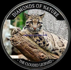Fiji 2013 10$ Diamonds of Nature The Clouded Leopard Silver Proof