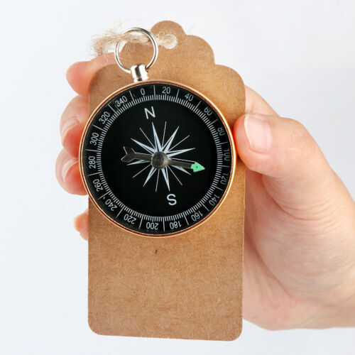 50×Travel Theme Wedding Souvenirs Compass with Tag Gifts for Guests Table Decor