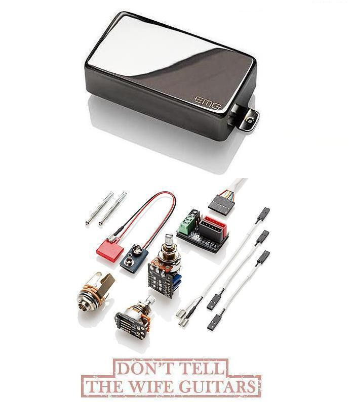 EMG 89X schwarz CHROME ACTIVE DUAL COIL & SINGLE COIL MODE (SHIPS FREE WORLDWIDE)