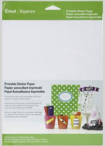 "8.5/"" x 11/"" 12 Pack Cricut Explore PRINTABLE STICKER PAPER FREE UK P/&P"