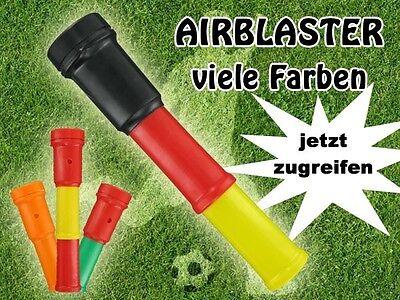Air Blaster Fu/ßball Fantr/öte Stadiontr/öte Farbe:rot//gelb//rot