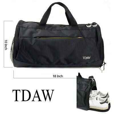 Tdaw Sports Bag Gym Duffle With Shoe Compartment For Workout Ebay