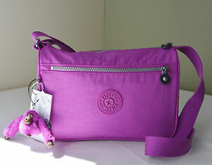 61bccdf49c1 Image is loading Kipling-HB6493-Pink-Orchard-Callie-Shoulder-Cross-body-