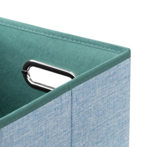 Faltbox 25 x 25 x 25 cm Aufbewahrungsbox Spielzeugkiste Kiste Korb mit Deckel