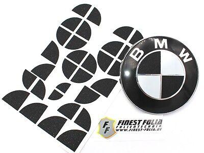 Glitzer Schwarz Emblem Ecken für BMW M1 F20 F21 E81 E82 E87 E88 F22 F23 M Paket