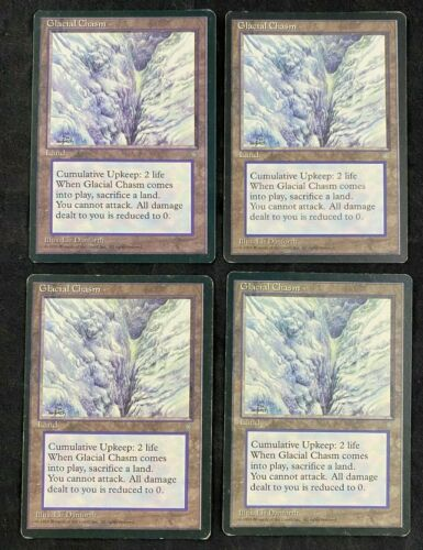 MTG Magic The Gathering Glacial Chasm Ice Age Playset of 4 Cards HP