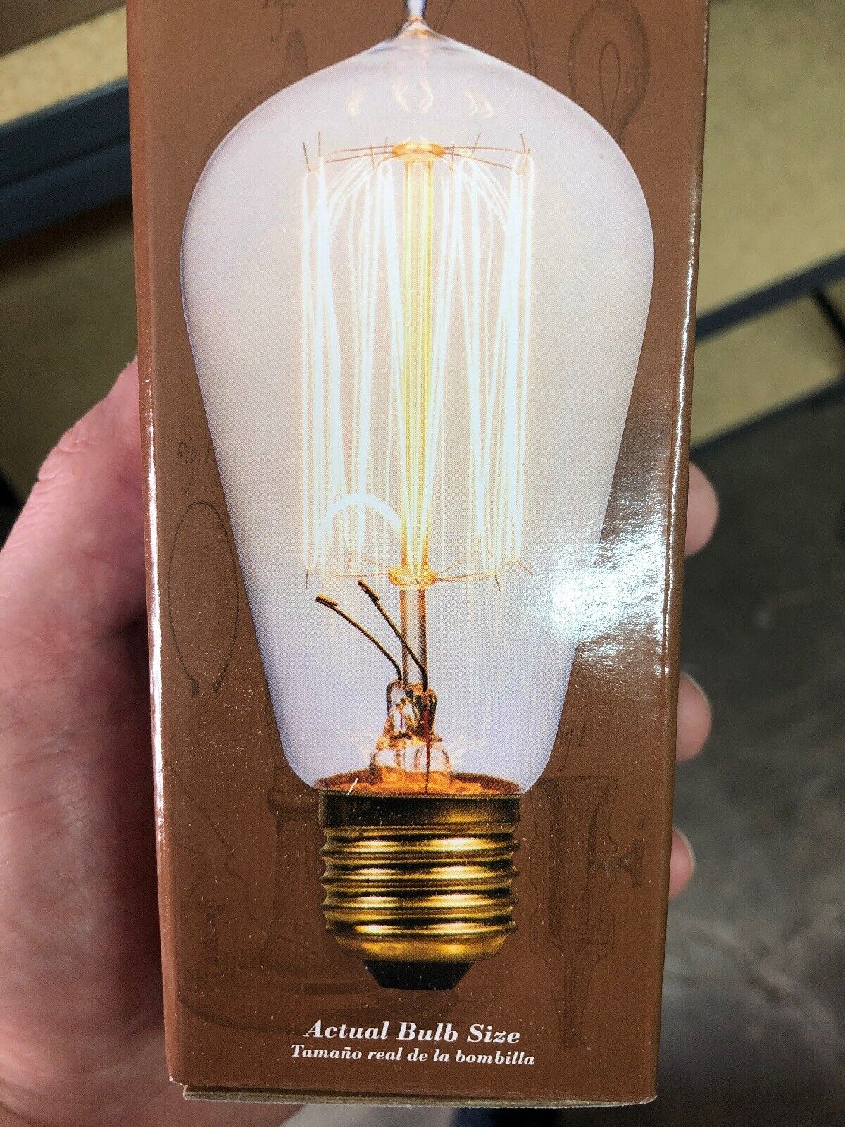 (12 qty) Heritage 0772640 Decorative Edison Style Amber Squirrel Cage Bulb