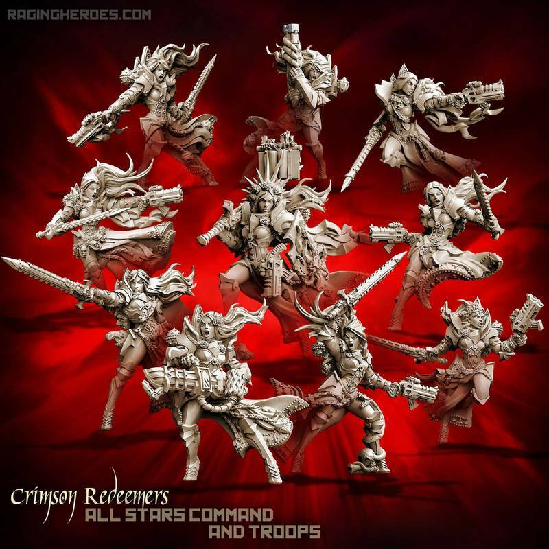 Raging Heroes - Sisters of the Orphanage -  Crimson Redeemers All 10