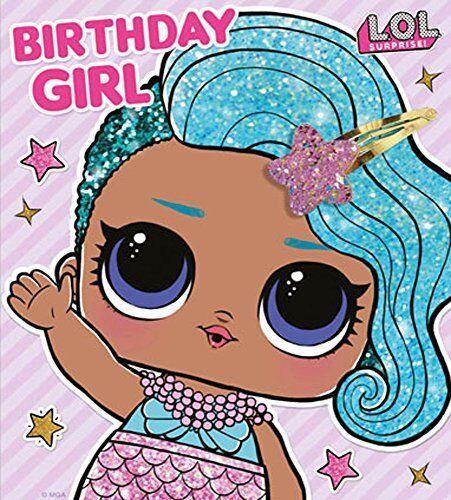 LOL Surprise Birthday Girl Birthday Card with Hair clip NEW
