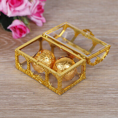 8PCS Carriage Candy Sweet Box Case Chocolate Gifts Party Wedding Decor Gold rtt