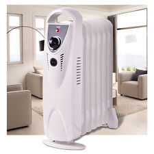 Portable 700W Electric Oil Filled Radiator Heater Thermostat Room Radiant Heat