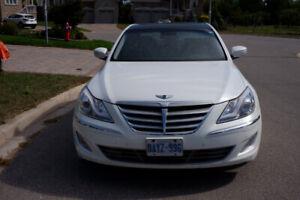 Pearl White 2012 Hyundai Genesis Sedan V6 3.8L Premium Pkg
