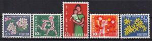 SCHWEIZ-Mi-758-762-postfrisch-PRO-JUVENTUTE-1962-TOP-MW-3-60-JKX-29-1