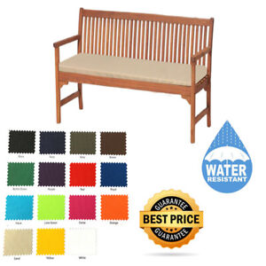 2-Seater-Outdoor-Water-Resistant-Bench-Swing-Seat-Cushion-Only-Garden-Furniture