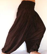 Sarouel Femme marron Pantalon Ethnique Aladin Harem Pant Aladdin brown