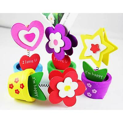 Cute Desk Standing Flowerpot Shape Photo Holder Card Paper Note Memo Cute Clip