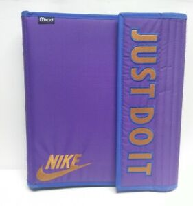 Details about Nike Big Logo Patch Mead 90s Trapper Keeper Style Notebook  School Sport Folders