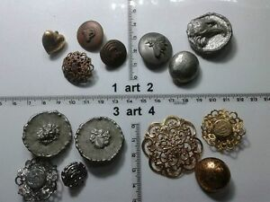 1-lotto-bottoni-gioiello-strass-smalti-perle-vetro-buttons-boutons-vintage-g9