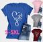 Womens-Summer-Tops-Cross-Love-Faith-T-Shirts-Plus-Size-Christian-Loose-Shirt thumbnail 1