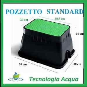 Pozzetto standard interrato per elettrovalvole giardino for Elettrovalvole per irrigazione