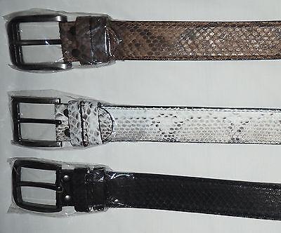 Umorismo Cinturon De Piel De Serpiente Piton, Color Negro