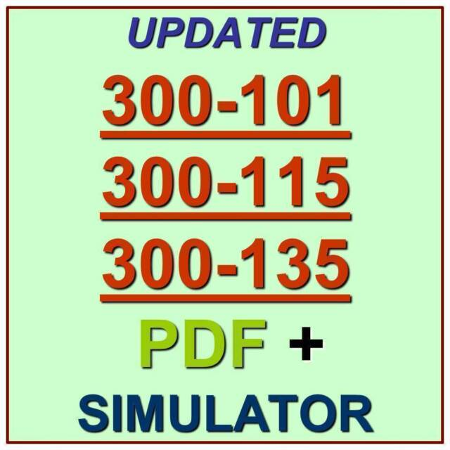 Cisco CCNP 300-101 300-115 300-135 Routing Switching Test Exam QA PDF/&Simulator