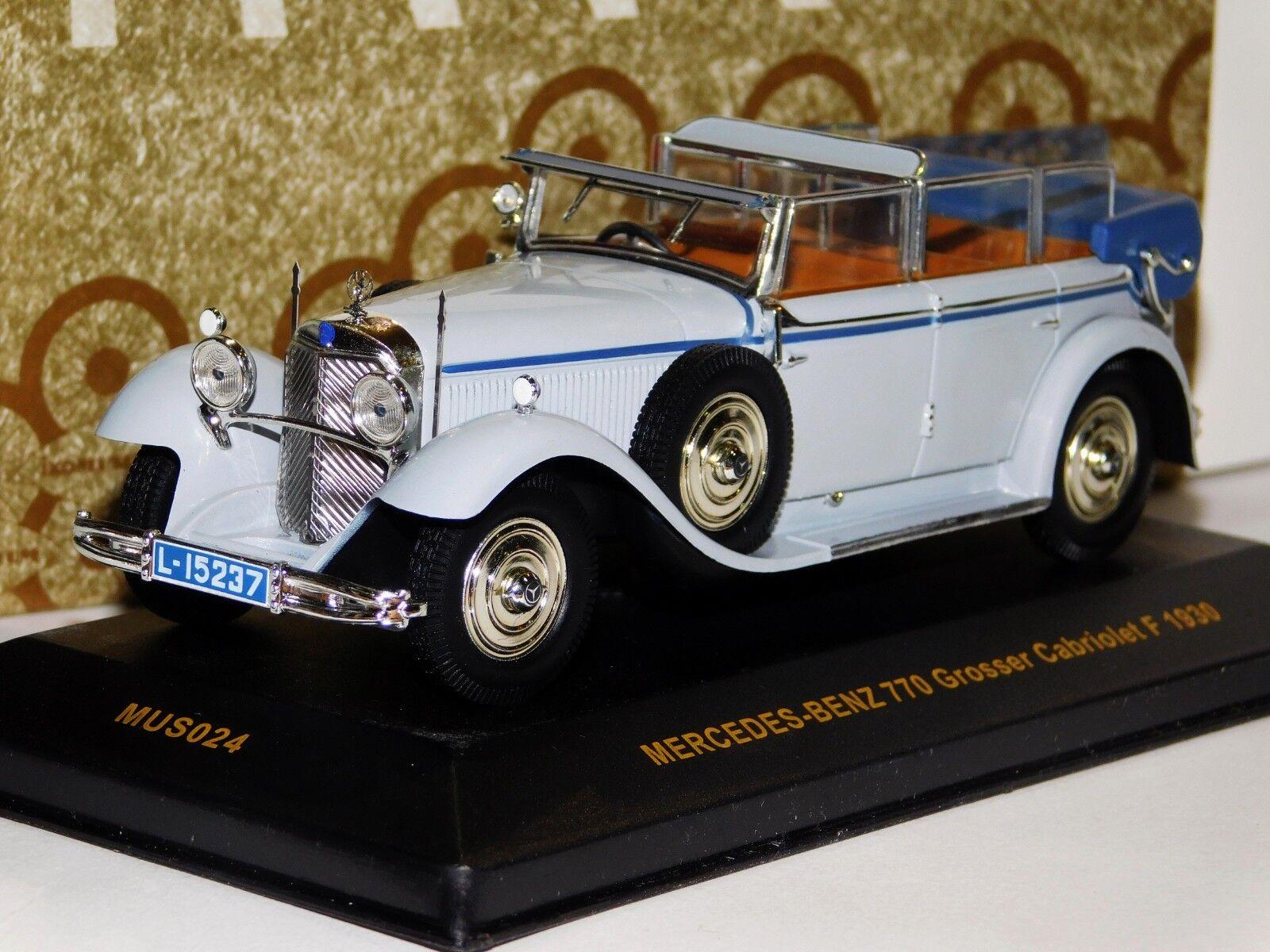 MERCEDES BENZ 770 GROSSER CABRIOLET F 1930 IXO MUSEUM MUS024 1 43